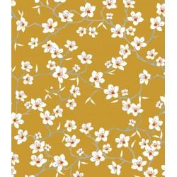 Coton Imprimé Amandier Safran