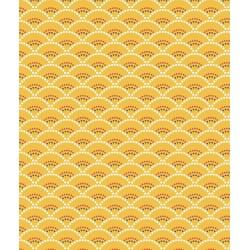 Coton Imprimé Koi Jaune