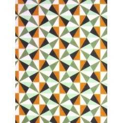 Coton Imprimé Ponzo Vert