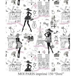 Coton Imprimé Moi Paris Doré