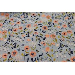 Coton Gratté POPPY Floral Bleu