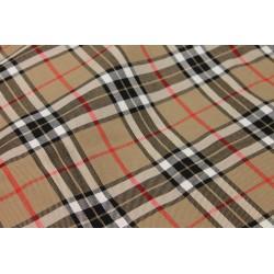 Tissu Écossais - Beige