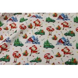 Coton Imprimé Père Noël