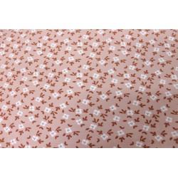 Jersey GOTS Fleurs Rose Pâle
