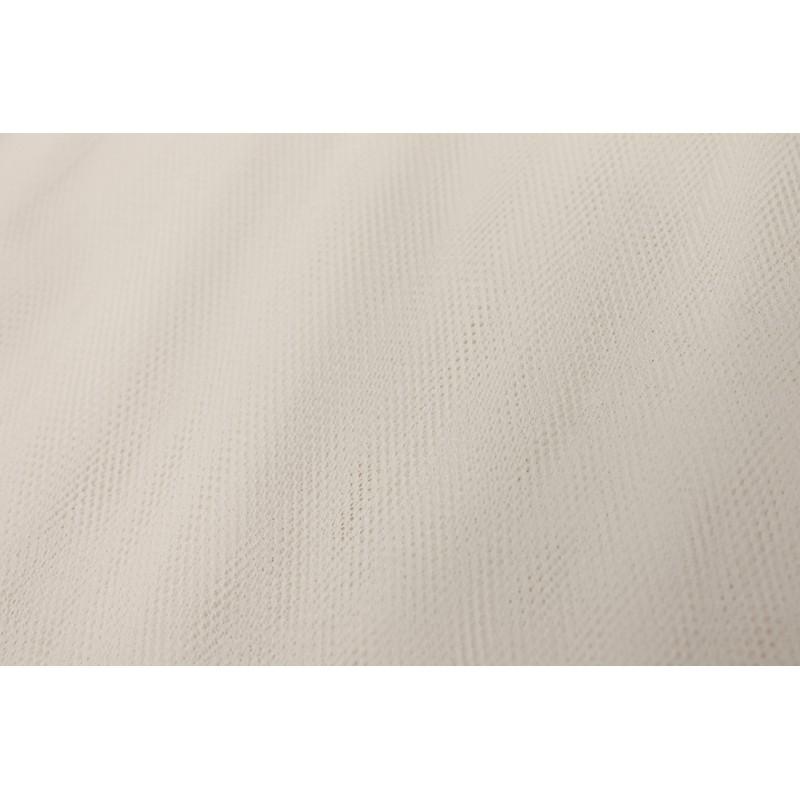Tissu tulle blanc