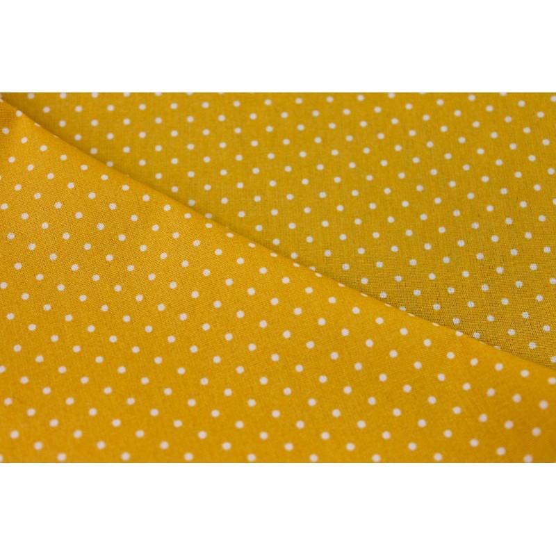 Coton enduit à pois jaune