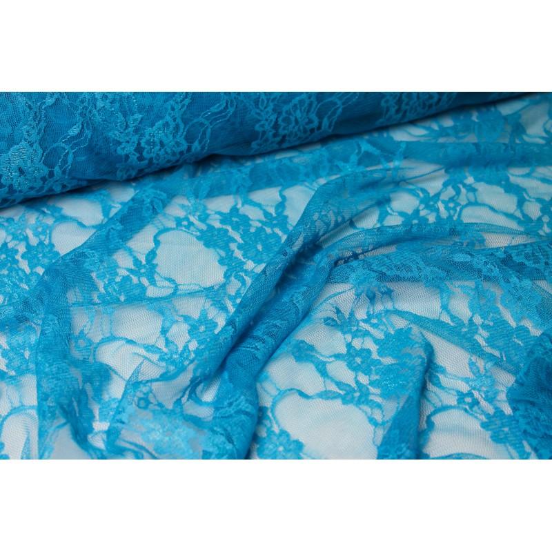 Tissu dentelle extensible Turquoise