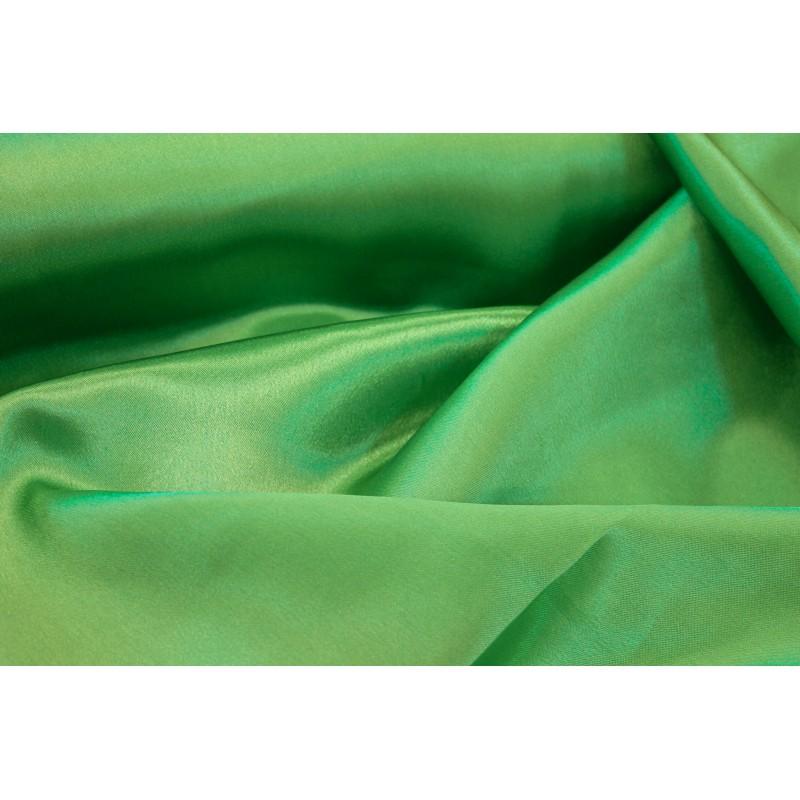 Tissu satin polyester Vert