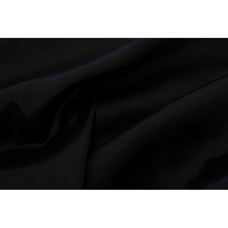 Tissu satin polyester Noir