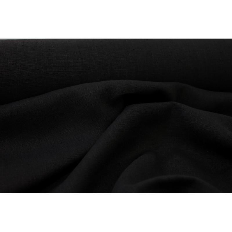 Lin lavé Vérone Noir
