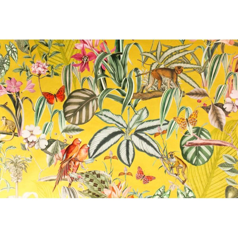Tissu velours Barbados Citron