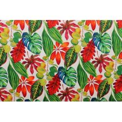 Tissu velours Bahamas Tropical