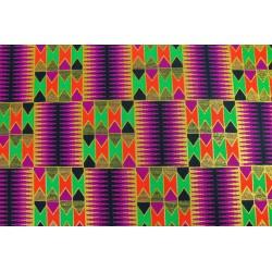 Wax Brillant Géométrique Violet