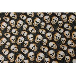 Coton Imprimé Halloween Crâne