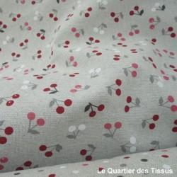 Tissu imprimé Cerisettes